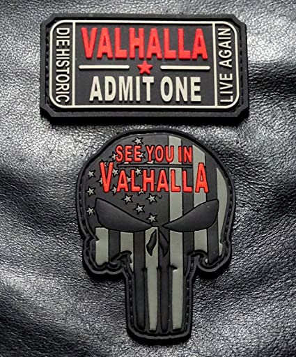 IN ODIN WE TRUST VIKING VALHALLA MAD MAX IRON ON PATCH