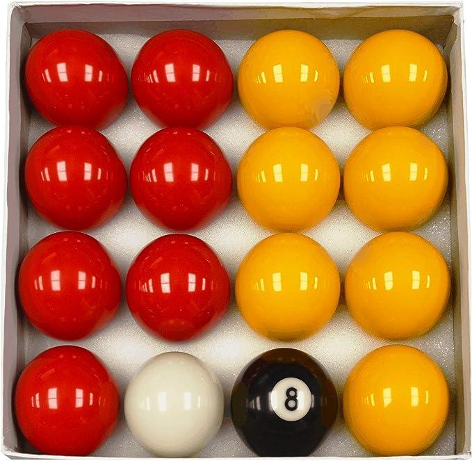 Juego de Bolas de Billar, Color Rojo y Amarillo: Amazon.es: Deportes y aire libre