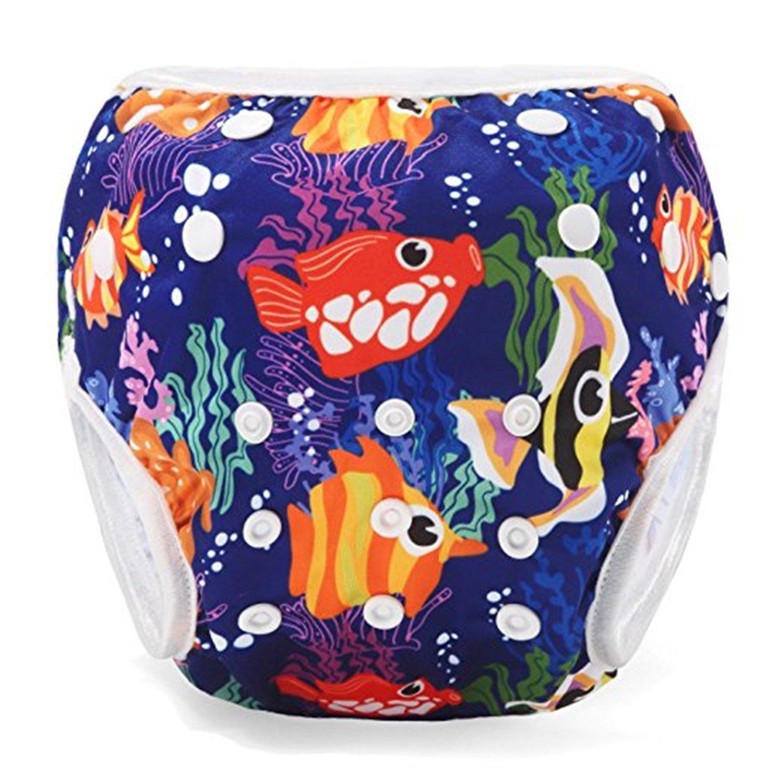 Storeofbaby Wiederverwendbare Swim Windeln f/ür Baby Adjustable Badehose Infant 0 3 Jahre