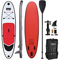 HIKS Red 10ft / 3m Stand Up Paddle SUP Board Set Inc Paddle, Pump, Backpack & Leash Suitable all Abilities Ideal Beginners Inflatable Paddleboard Kit