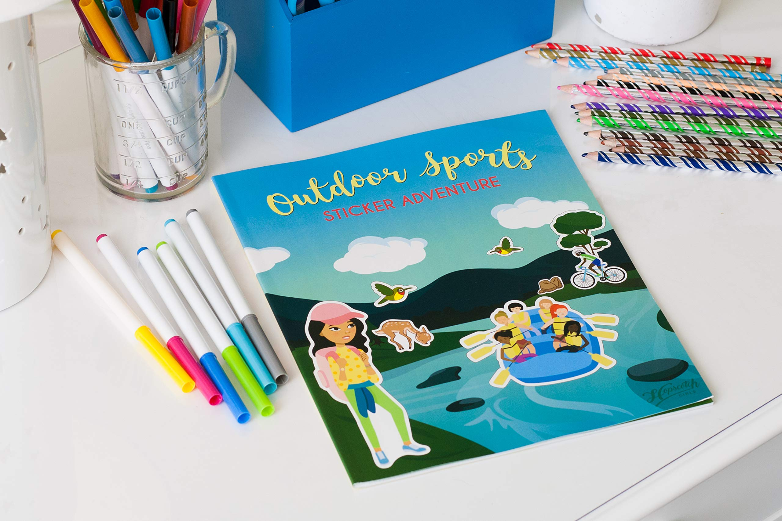 Confidence-Building Sticker Book for Girls Ages 4-8 - Outdoor Sports Sticker Adventure by Hopscotch Girls (Image #3)
