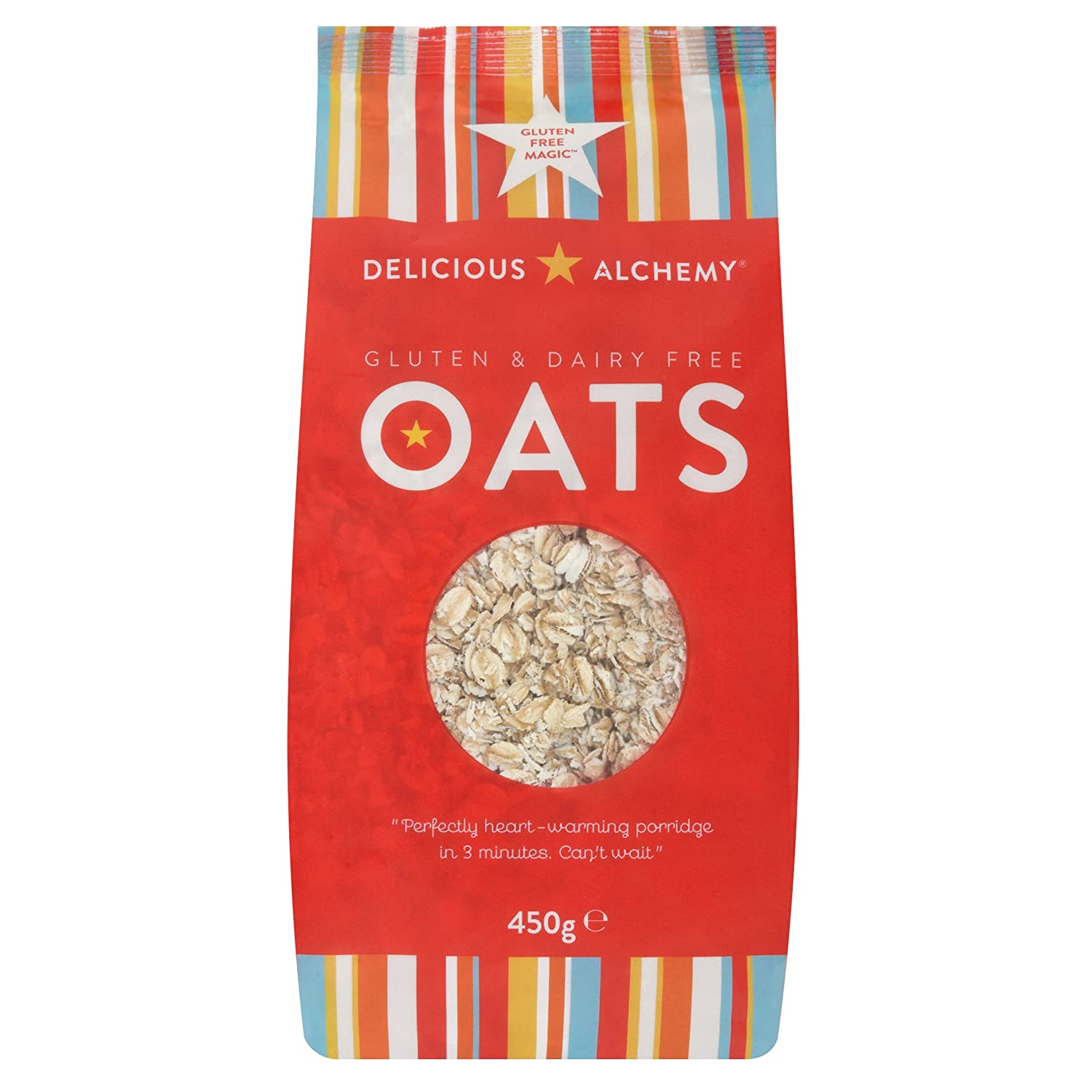 Delicious Alchemy - Gluten & Dairy Free Oats - 450g (Case of ...