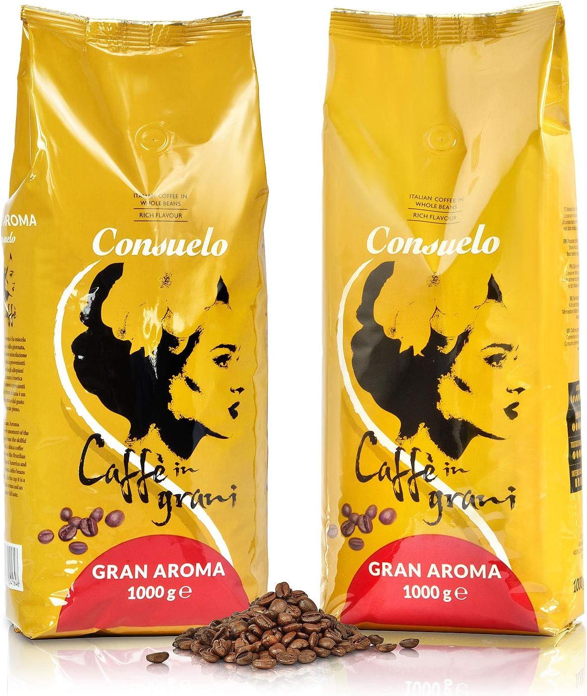 Consuelo Gran Aroma Café en grano italiano, 2 x 1kg: Amazon.es ...