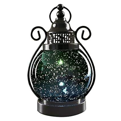 Vu0026M VALERY MADELYN Decorative Candle Lanterns,Mercury Glass Sphere  Light,LED Tabletop Lamps,