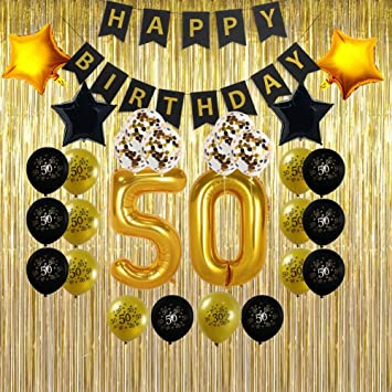 amazon com 50th birthday decorations gifts for men women 50