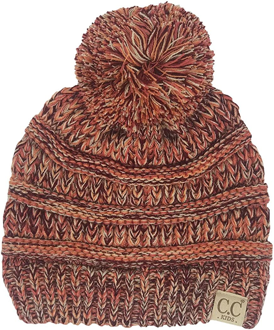 Funky Junque Kids Baby Toddler Cable Knit Children/'s Pom Winter Hat Beanie