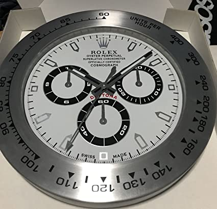 fccf9c66e40 Haoyun Rolex Daytona Luminous Wall Clock  Amazon.co.uk  Kitchen   Home