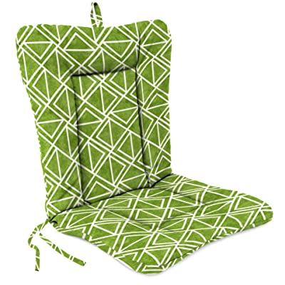 "Outdoor 21"" X 38"" 3.5"" Euro Style Dining Chair Cushion 1-Pack Palm Green Geometric Polyester Uv Resistant: Home & Kitchen"
