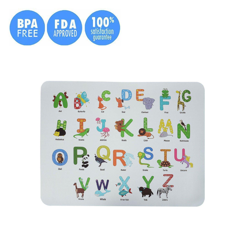 【超歓迎】 Kuke Kids ブルー Babiesダイニングテーブルマットno-slipと洗濯可能シリコンアルファベット教育プレースマット One Size ブルー Size ブルー ブルー B07C24KG23, ラケットショップ ウイング:3313ceed --- beyonddefeat.com