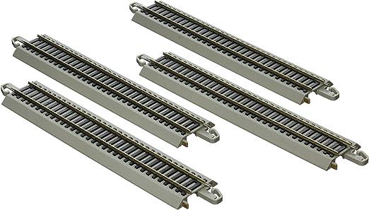 STRAIGHT TRACK SECTION NS RAIL GRAY ROADBED BACHMANN HO SCALE E-Z TRACK ASST