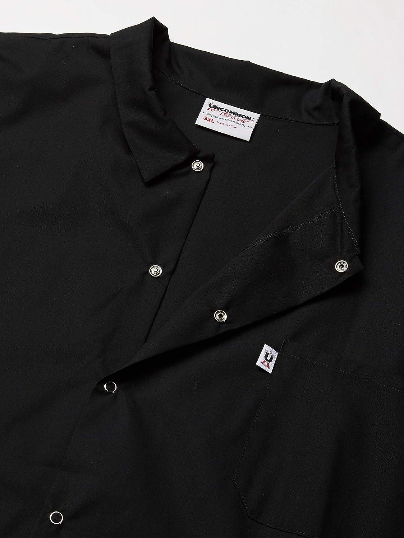 Black Uncommon Threads Unisex-Adults Plus Size Utility Shirt 6 Snap 65//35 3XL