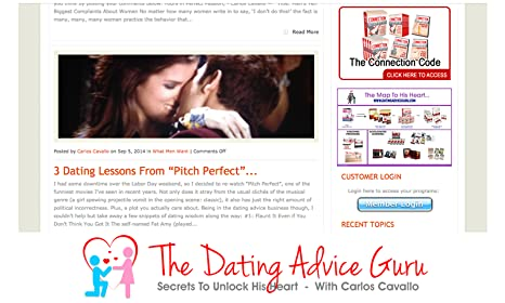 Dating advice guru connection code