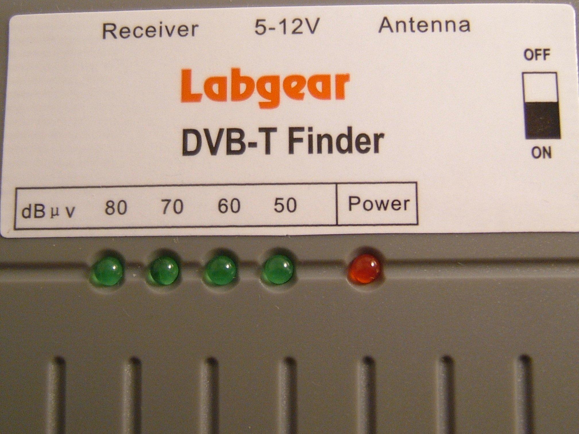 Labgear DVB-T Digital TV Aerial Signal Finder Meter - Black