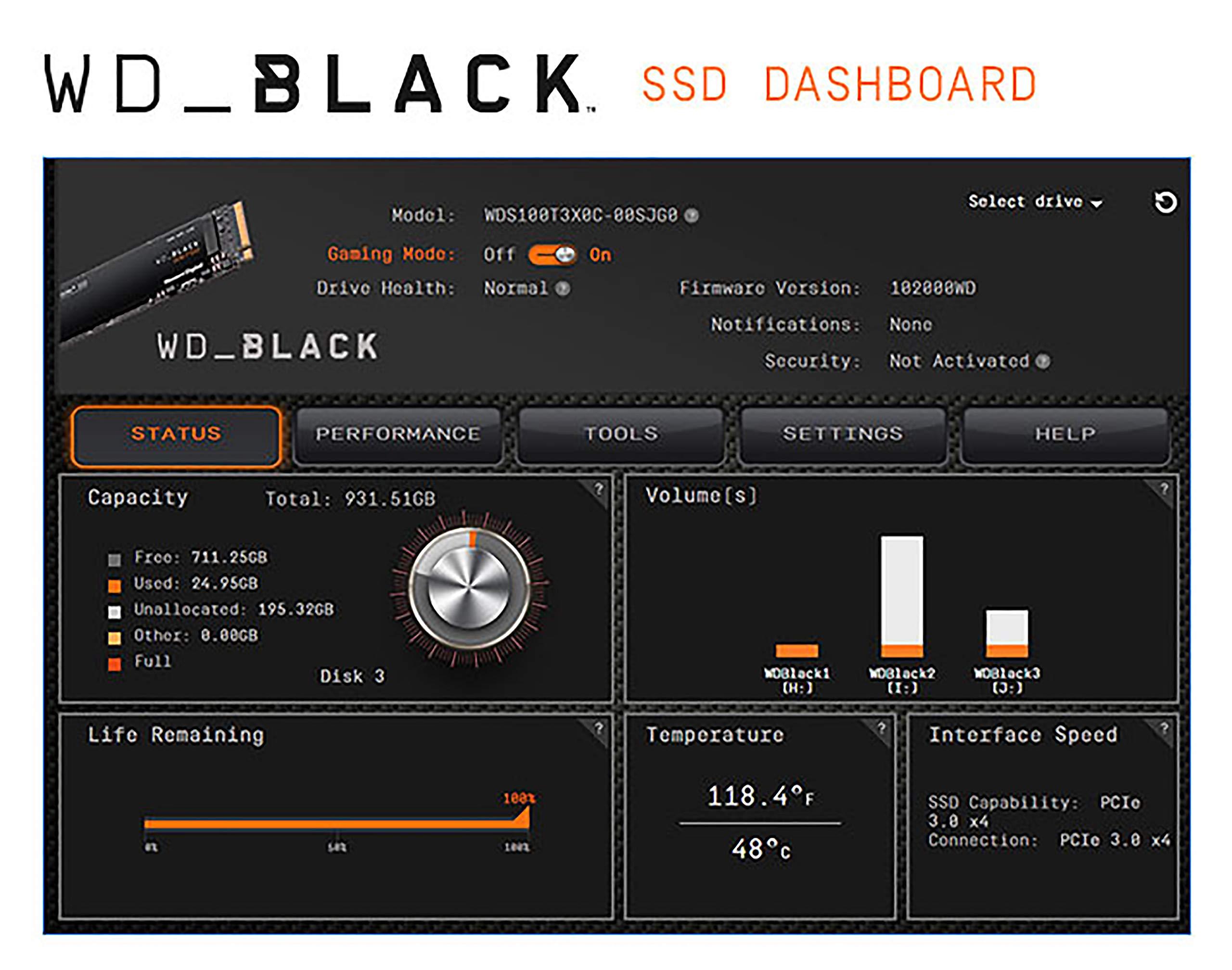 WD BLACK SN750 1TB NVMe Internal Gaming SSD - Gen3 PCIe, M.2 2280, 3D NAND - WDS100T3X0C by Western Digital (Image #6)