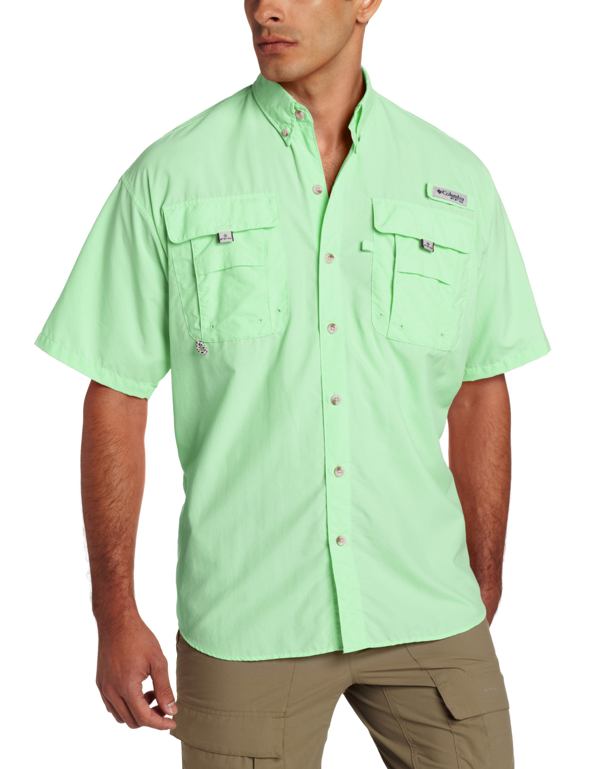 Columbia Men's PFG Bahama II Short Sleeve Shirt, Key West, Medium