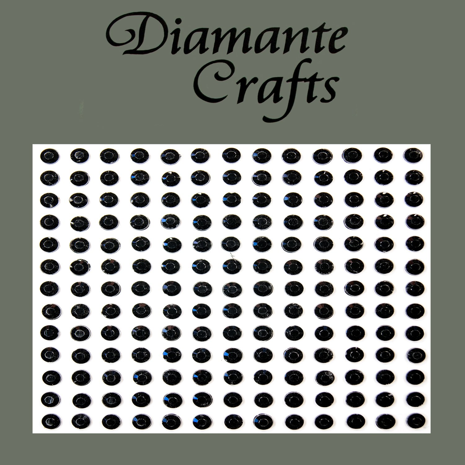 169 x 4mm Black Diamante Vajazzle Rhinestone Body Gems - created exclusively for Diamante Crafts