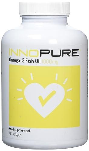 Innopure Omega 3 Fish Oil   2000mg per Daily Dose Providing EPA & DHA, 180 Softgels   Innnopure