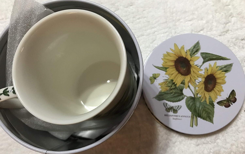 Botanic Garden Sunflower 13 x 13 x 11,5 cm Porcelana Juego de Taza y Lata
