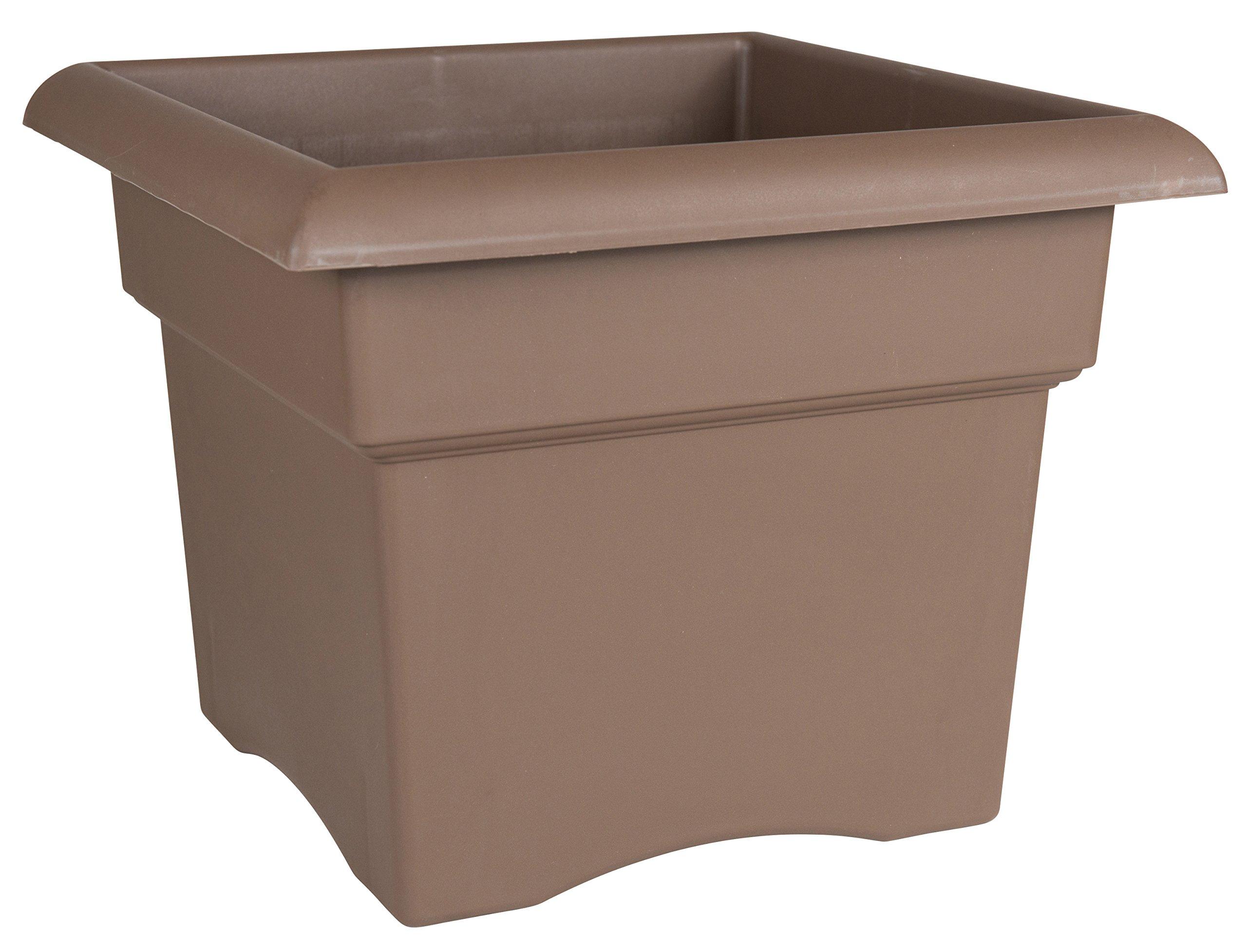 Fiskars 14 Inch Veranda 3 Gallon Box Planter, Color Chocolate (57314CH)