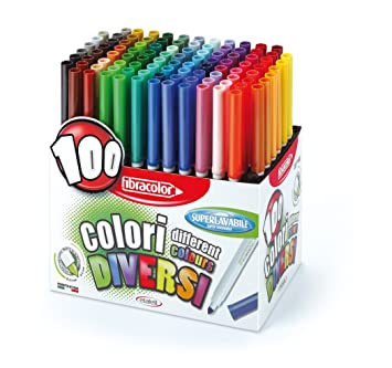Coloriage Adulte Feutre Ou Crayon.Feutre Coloriage Pointe Large Presentoir De 100 Jouet Amazon Fr