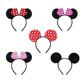 rosepartyh Diadema Orejas de Minnie Mickey Mouse Niña Mujer ...