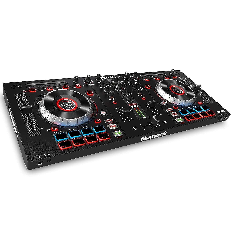Numark MixTrack Platinum Controlador DJ todo uno de canales con pantallas LCD