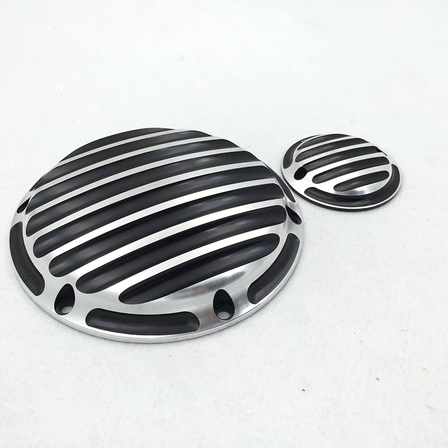 HTT Group Motorcycle Groove Chrome Engine Derby Timer Cover For Harley Sportster 883 Roadster XL883R Iron XL883N Roadster XL883R