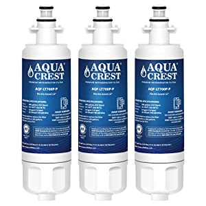 AQUACREST ADQ36006101 Refrigerator Water Filter, Compatible with LG LT700P, Kenmore 9690, 46-9690, ADQ36006102 (Pack of 3)
