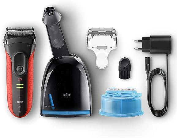 Braun Series 3 3050cc Máquina de afeitar de láminas Recortadora Negro, Rojo - Afeitadora (Máquina de afeitar de láminas, Negro, Rojo, AC/Batería, Níquel-metal hidruro (NiMH), Integrado, 45 min): Amazon.es: Salud y cuidado