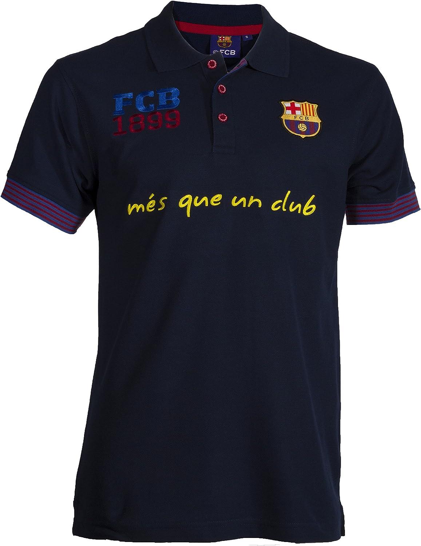 Polo FC Barcelone – para Hombre, Talla DE Adulto, Azul (Azul ...