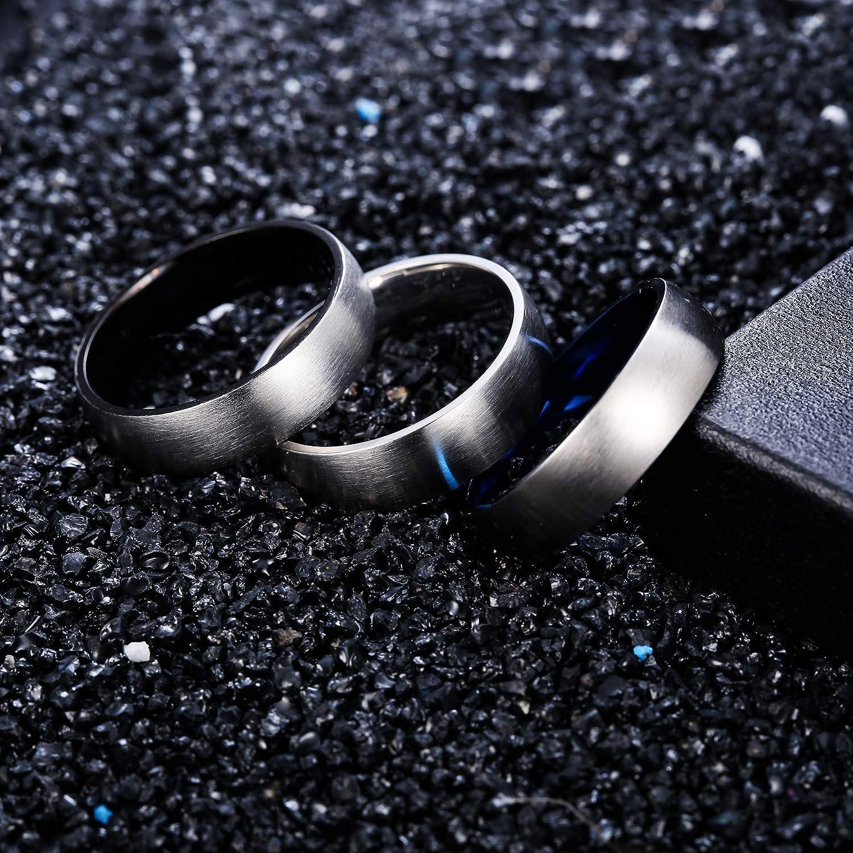 LOYALLOOK 2pcs Stainless Steel Spinner Wedding Rings for Men Women Biker Chain Rings 8mm Wide Size 7-13