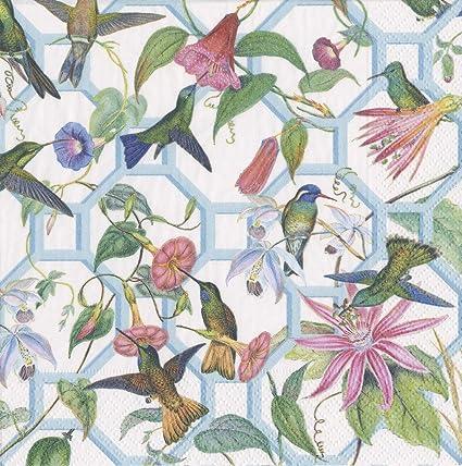 English Flower Napkins paper Caspari Chatsworth Blossoms