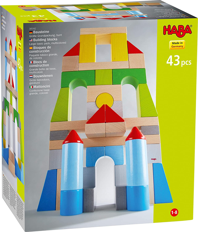 HABA 305162 Building Blocks – Large Basic Pack, Multicolored