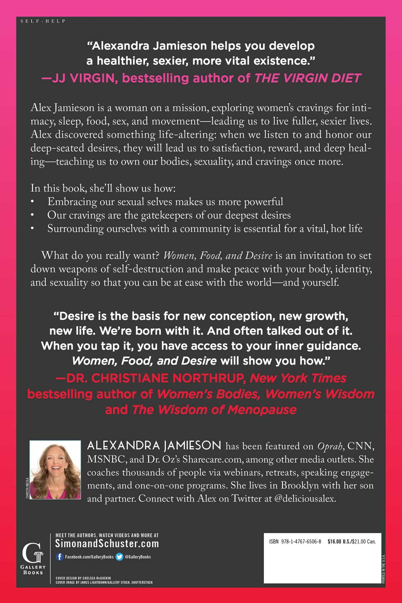 Women, Food, and Desire: Honor Your Cravings, Embrace Your Desires, Reclaim  Your Body: Alexandra Jamieson: 9781476765068: Amazon.com: Books