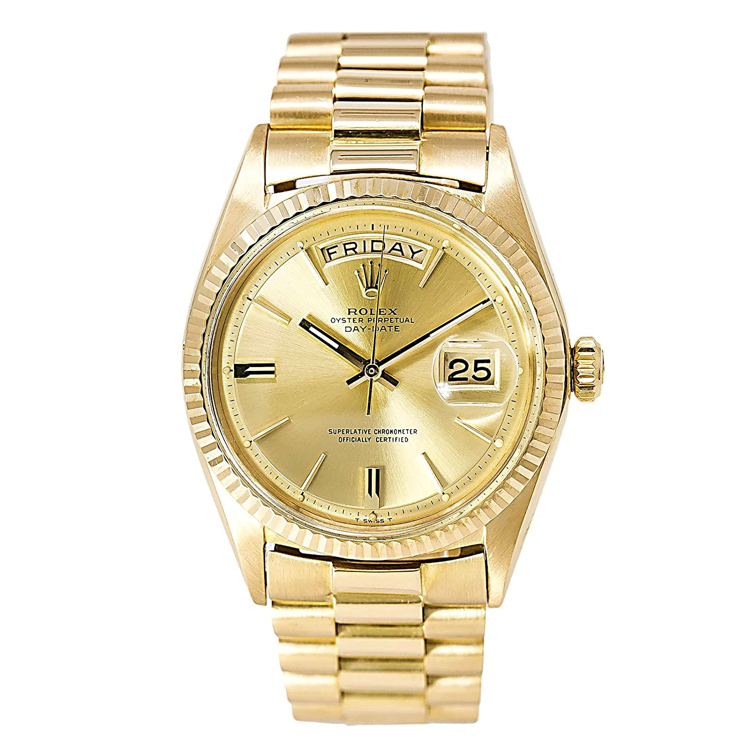 gold white solid day roman president product date watches yellow presidential rolex