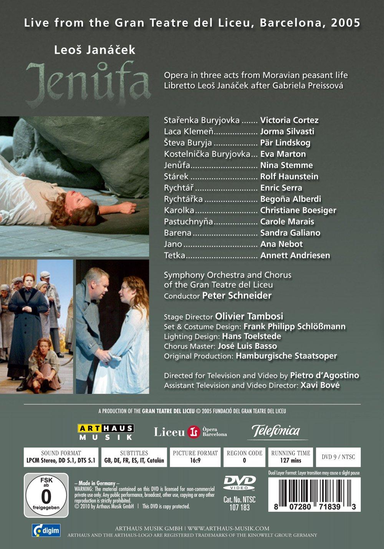 Janacek: Jenufa Gran Teatre Del Liceu DVD 2012 NTSC: Amazon.co.uk ...