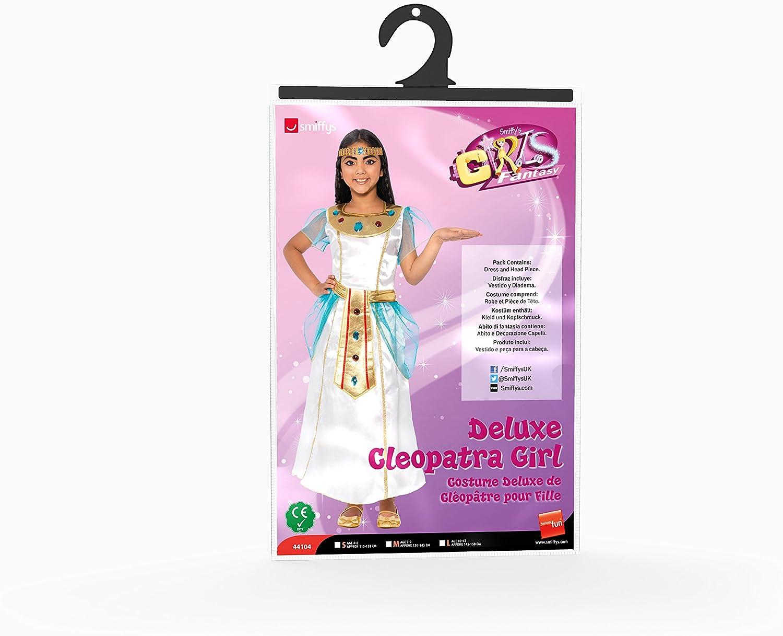Smiffys-44104S Traje de Chica Cleopatra, Vestido y Diadema, Color ...
