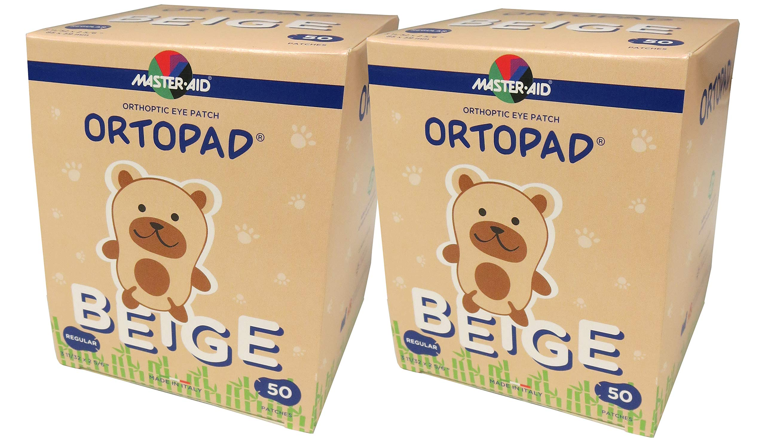 Ortopad® Bamboo Beige, Regular Size, 2 Boxes by Ortopad
