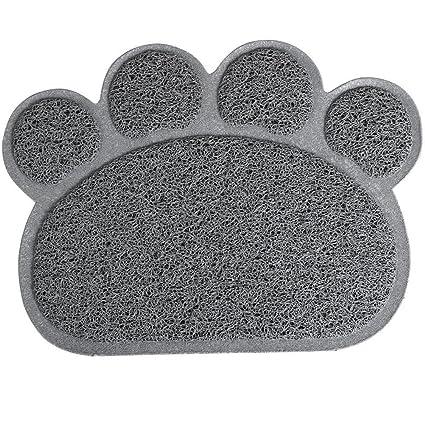 ueetek alfombra de alimentación para Animal de compañía alfombra bandeja para arena de gato 30 x 40 cm (gris): Amazon.es: Productos para mascotas