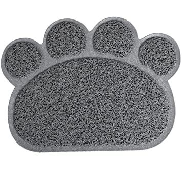 UEETEK Alfombrilla para Comederos de Perros y Gatos Antideslizante Estera para Mascota 30x40cm (Gris): Amazon.es: Deportes y aire libre