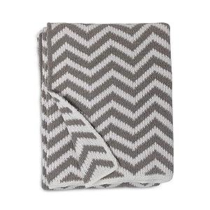 Living Textiles Chevron Chenille Soft Baby Blanket PREMIUM HIGH QUALITY Cozy Fabric for BEST COMFORT - For Infant,Toddler,Newborn,Nursery,Boy,Girl,Unisex,Throw,Crib,Stroller,Gift, Grey Chevron 40x30