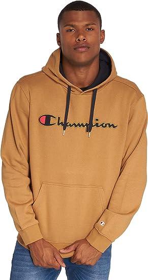 pull champion marron homme