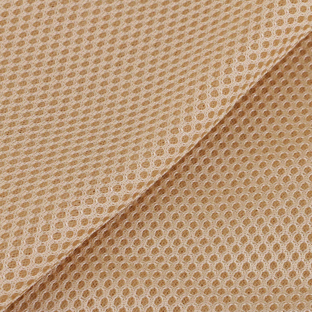 Beige kesoto Soft Mesh Fabric Netting DIY Sewing Material for Outdoor Bags Shoes Clothes