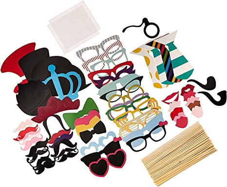 cooloo fiesta Photo Booth props DIY Kit, papel para un palo de ...