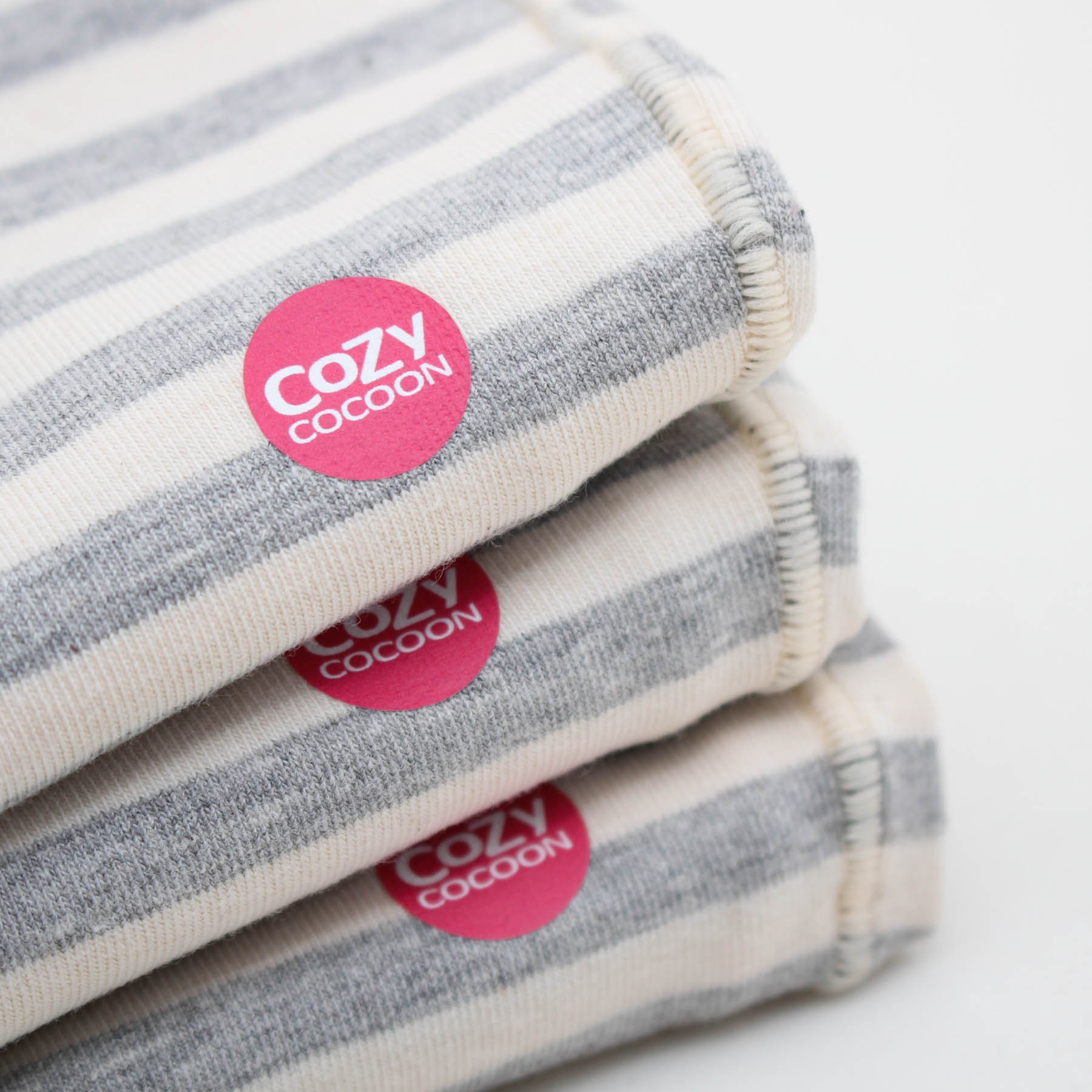 Cozy Cocoon Baby Cocoon Swaddle and Matching Hat, Gray Stripes, 0-3 months by Cozy Cocoon (Image #7)