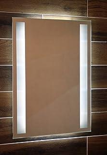 Badspiegel mit Ablage aus Glas Dora Wandspiegel mit Beleuchtung 70 ... | {Spiegel mit beleuchtung und ablage 74}