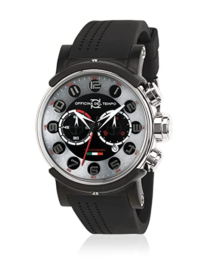 Officina del Tempo Reloj de cuarzo Man Block Crono Os21 42.0 mm: Amazon.es: Relojes