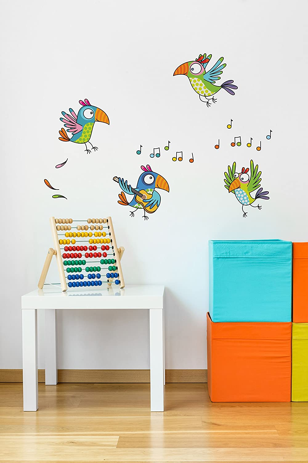 AdzifTowards Happiness Wall Mural Multicolored