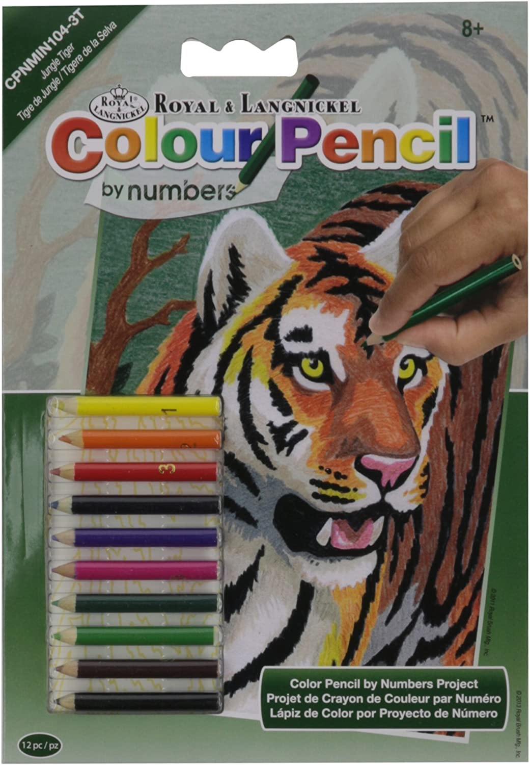 Darice Mini Colour Pencil by Number Kit 18