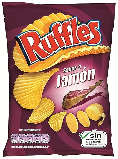 LAYŽS - Ruffles Patatas Fritas Onduladas Jamón Bolsa 31 Gr ...